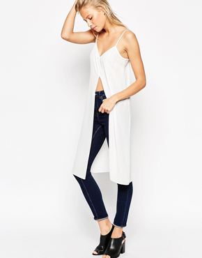 ASOS Longline Cami Top with Front Split