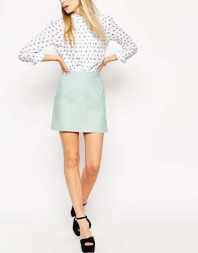 ASOS A-Line Linen Mini Skirt