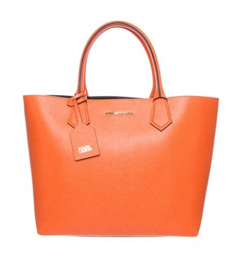 KARL LAGERFELD KOLOR - Tote bag - orange