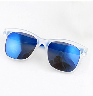 Blue Lenses Sheer Rim Sunglasses