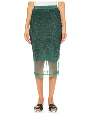 By Malene Birger Anissa Leopard Sheer Skirt