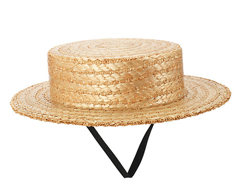 Girls' Straw Boater