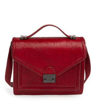 Loeffler Randall 'Medium Rider' Calf Hair Satchel