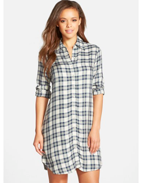 BB Dakota 'Ruger' Plaid Shirtdress