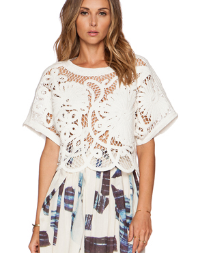 TIBI MATEO CROCHET Top