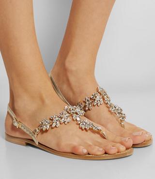 MUSA Swarovski leather sandals