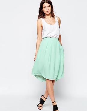 Y.A.S Mint Midi Skirt