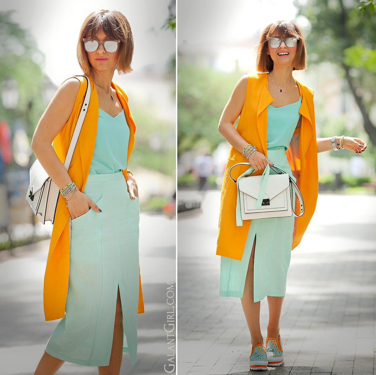 orange-linen-zara-vest-outfit-street-style-ideas-galant-girl