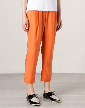 ASTRAET cropped high waist trousers
