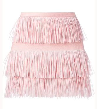 MSGM fringed skirt