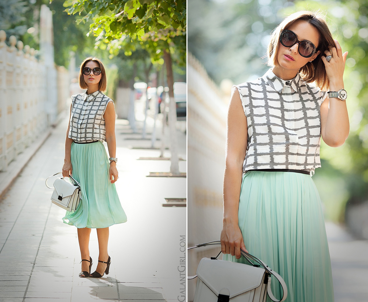 pleated-skirt-asos-checked-shirt-asos-fashion-blogger-galant-girl