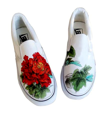 Printed Canvas Slip-Ons