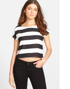 Sam Edelman Stripe Short Sleeve Top