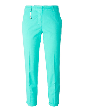 INCOTEX  slim fit cropped trousers