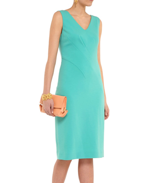OSCAR DE LA RENTA Stretch-silk dress
