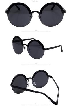 Half Frame Round Sunglasses