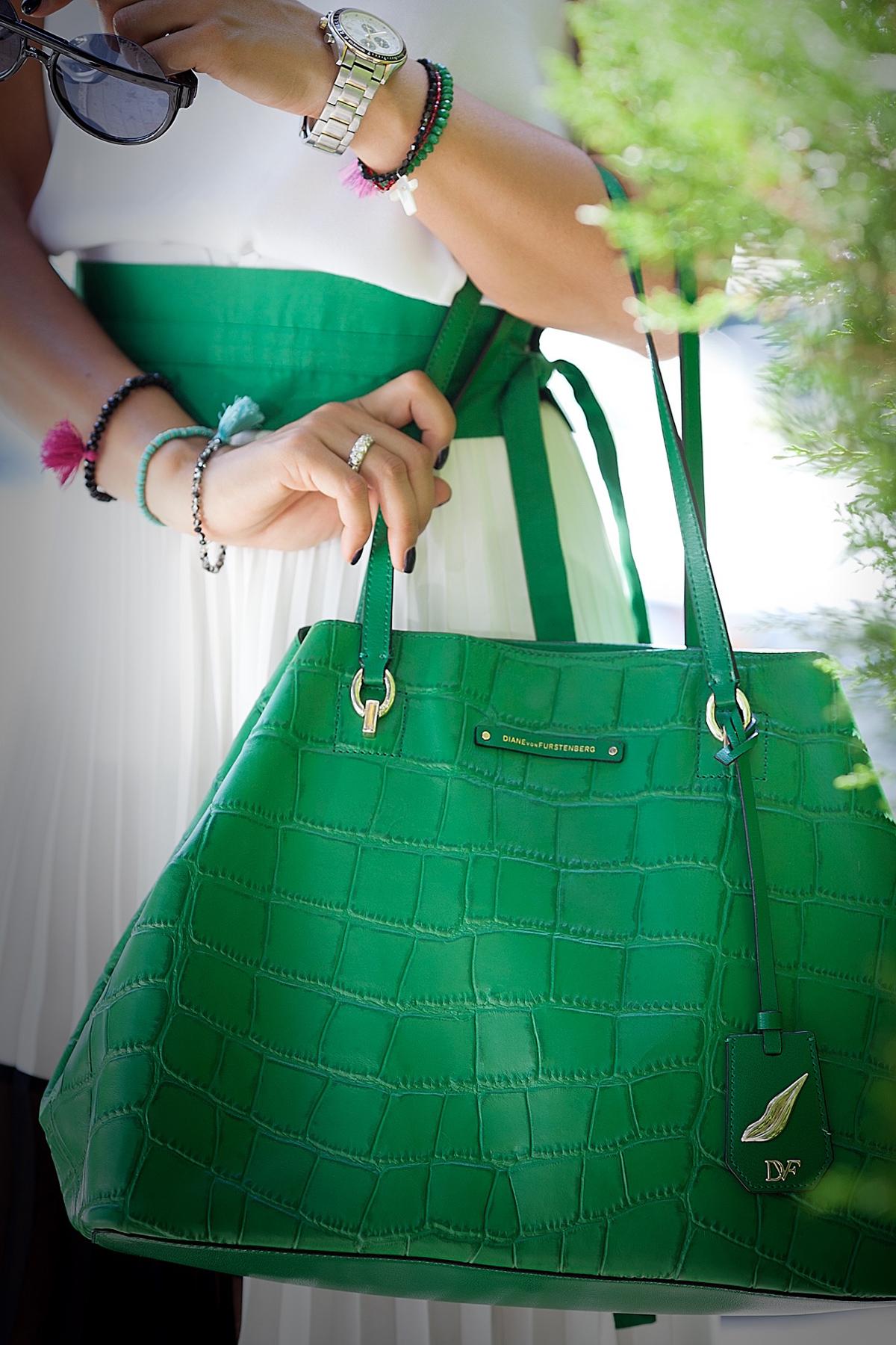 diane-von-furstenberg-green-tote-bag