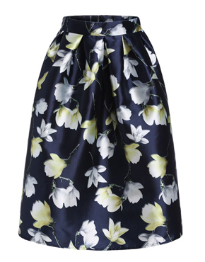 Multicolor High Waist Tulip Print Skirt