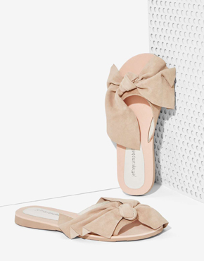Jeffrey Campbell Bow Suede Slide