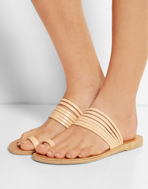 VALIA GABRIEL Miramar leather sandals