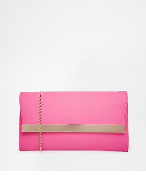 New Look Molly Metal Bar Colour Block Clutch