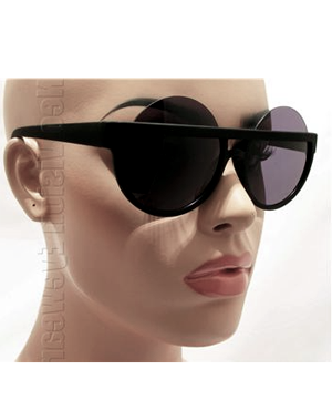 Oversized Round Flat Top Sunglasses