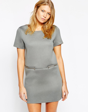 Glamorous Shift Dress with Zip Detail