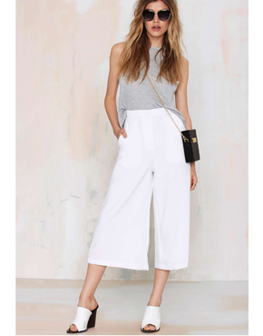 Last Call Culottes - White