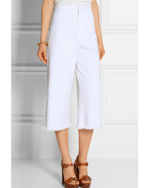 MIH JEANS Clean stretch-denim culottes