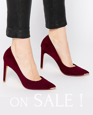 Ted Baker Suede Patent Heeled Shoes