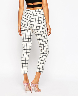AX Paris Tailored Trousers in Check