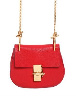 CHLOÉ  'Drew' shoulder bag in RED