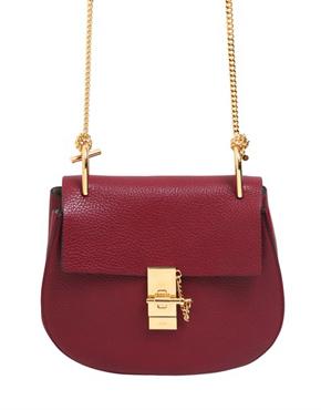 CHLOÉ  'Drew' shoulder bag in WINE RED