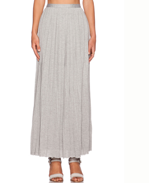 PLEATED COLUMN MAXI SKIRT DOLAN