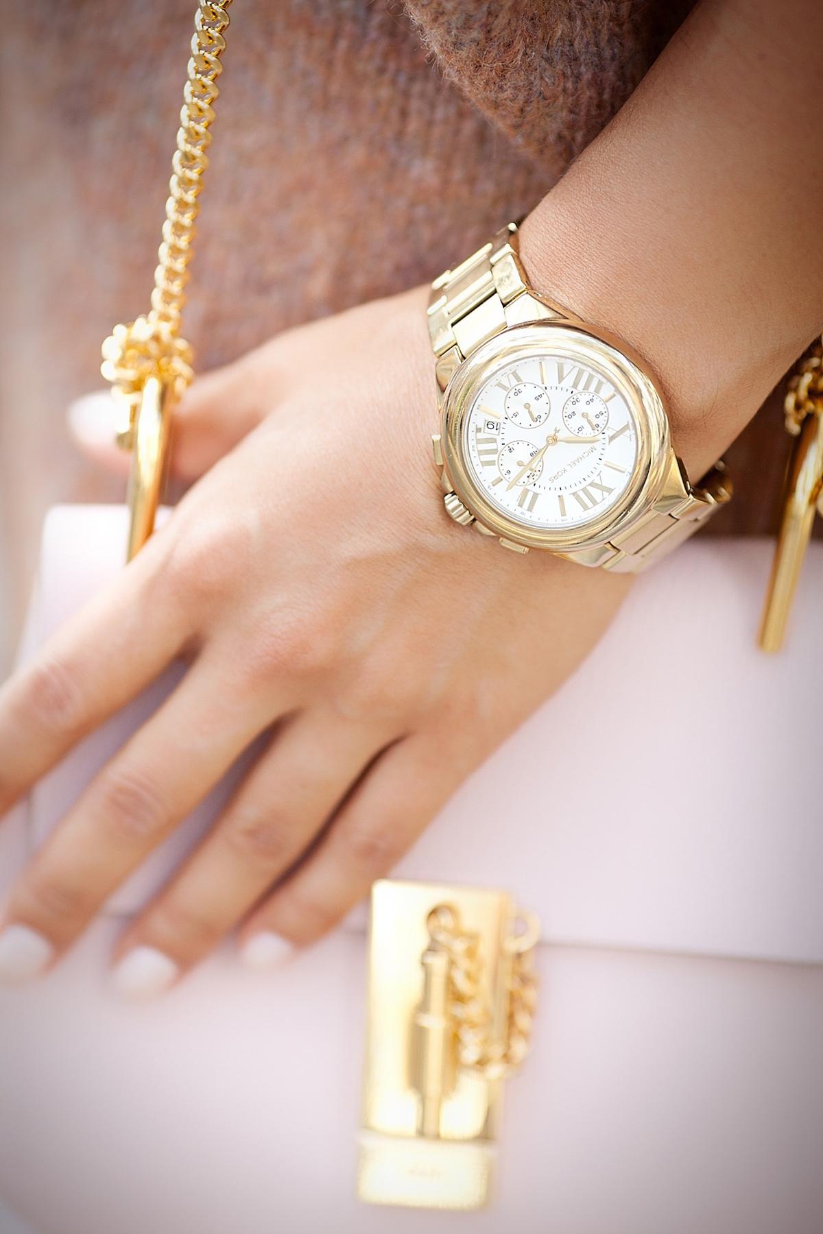 mickale+kors+golden+watch