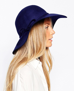 Liquorish Wool 70s Floppy Hat