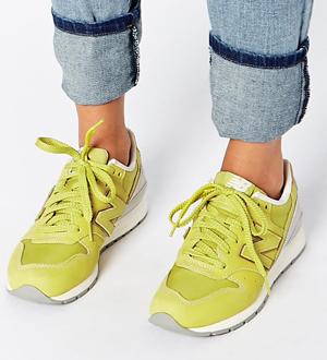 New Balance Lime Nubuck Trainers