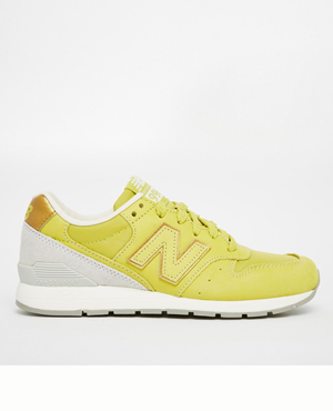 New Balance Lime Nubuck Trainers