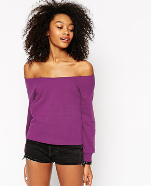 ASOS Off the Shoulder Sweatshirt (ONLY $15)