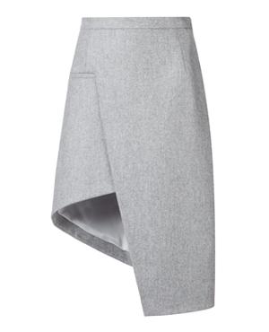 MUGLER  asymmetric A-line skirt