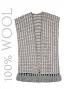 7II Pink & Grey Wool Poncho