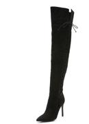 Schutz Laced Thigh High Boots