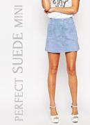 ASOS Suede A-Line Skirt