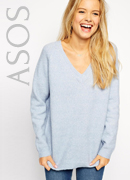 ASOS Jumper In Fluffy Yarn