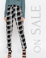 Ganni Checked Trousers