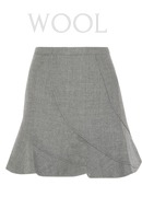 J.CREW Flared wool mini skirt
