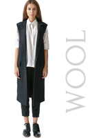 Wool Sleeveless Coat