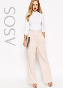ASOS Structured Wide Leg Trouser
