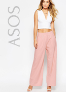 ASOS Wide Leg Trouser in Linen