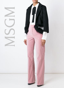 MSGM  flared velvet trousers